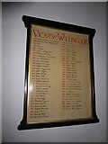 TQ5802 : St Mary, Willingdon: incumbency board by Basher Eyre