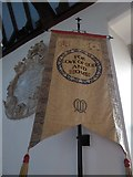 TQ5802 : St Mary, Willingdon: banner (i) by Basher Eyre
