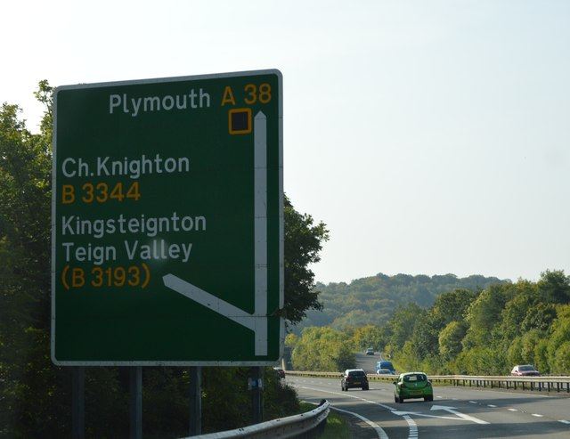 Junction on the A38