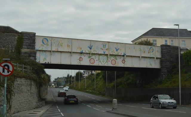 Artwork on a bridge, A374