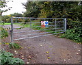 SU9677 : Keep clear - no parking near this path gate, Eton by Jaggery