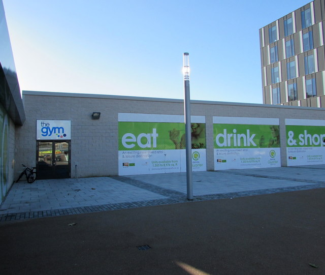 Entrance to The Gym in Newport city centre