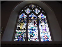 TQ5802 : St Mary, Willingdon: stained glass window (V) by Basher Eyre