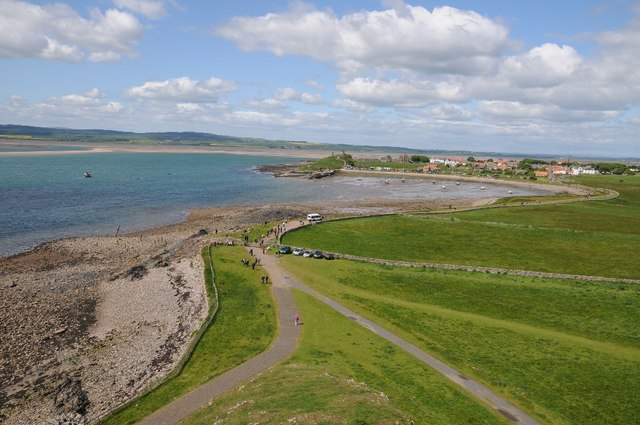 View west from Lindisfarne Castle