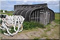 NU1241 : Shed on Holy Island by Philip Halling