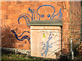 TQ2897 : Graffiti on Former Sports Hall, Trent Park, London N14 by Christine Matthews