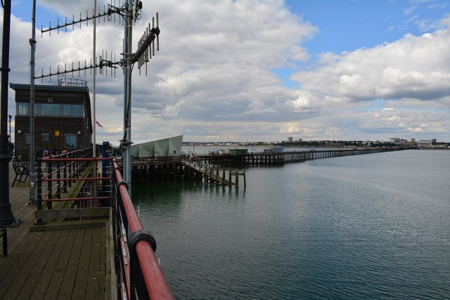 Looking back at Southend from the pier