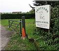 SZ5890 : Trotters Riding School nameboard near Swanmore by Jaggery