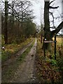SK2267 : No further access turn right for bridleway by Steve  Fareham