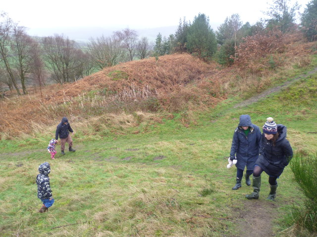 Walkers visiting Bury Ditches hillfort