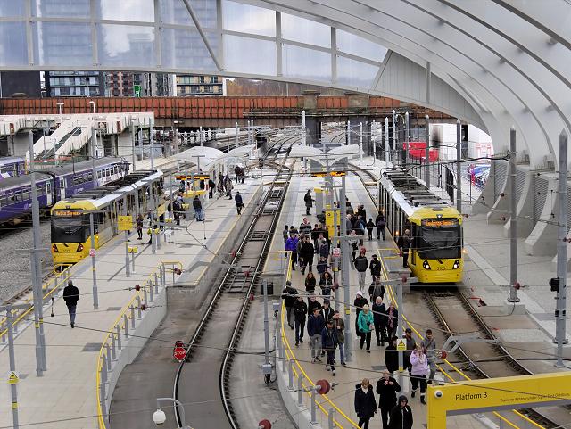Manchester Victoria Station Metrolink Platforms