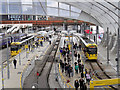 SJ8499 : Manchester Victoria Station Metrolink Platforms by David Dixon