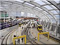 SJ8499 : Manchester Victoria Station Tram Platforms (December 2015) by David Dixon