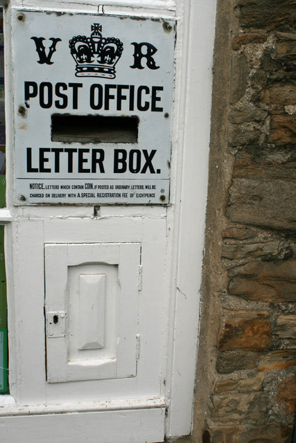 Postbox, Abbey Gatehouse, Blanchland