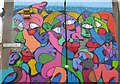 TQ3787 : Walthamstow wall art by Dave Pickersgill