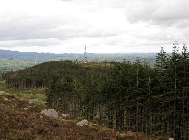 Drinnahilly Transmission Mast from the slopes of Slievenamaddy