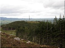J3630 : Drinnahilly Transmission Mast from the slopes of Slievenamaddy by Eric Jones