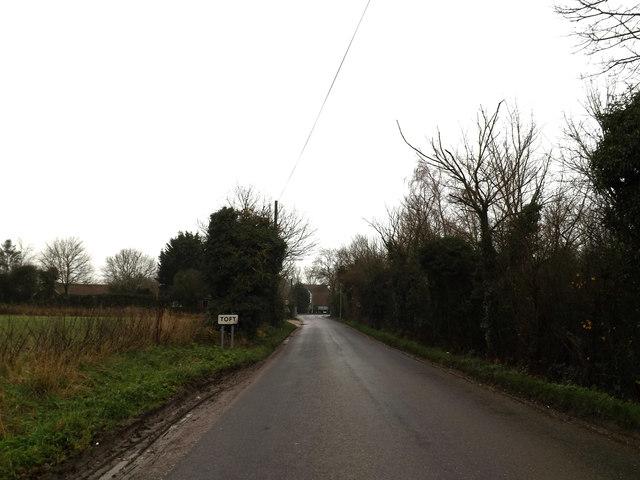 Entering Toft on Hardwick Road