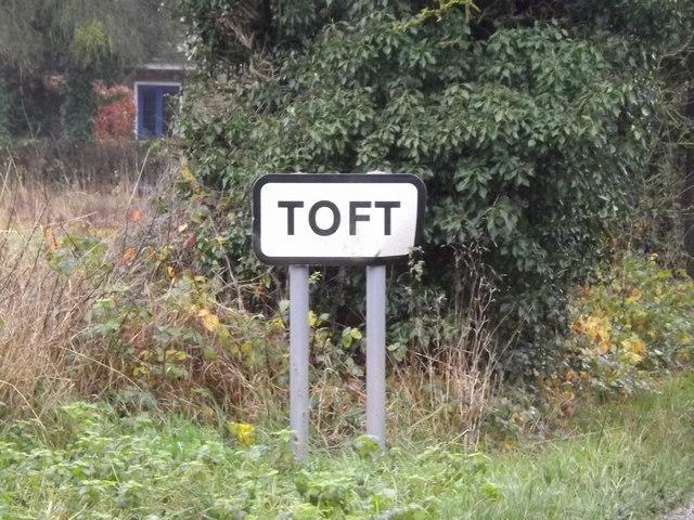 Toft Village Name sign on Hardwick Road