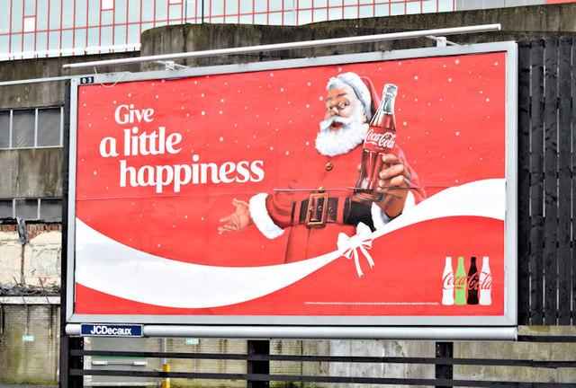 """Coca-Cola"" Christmas poster, Belfast (December 2015)"