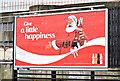 """J3474 : """"Coca-Cola"""" Christmas poster, Belfast (December 2015) by Albert Bridge"""