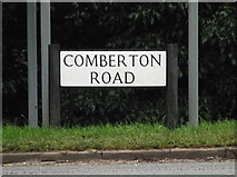 TL3656 : Comberton Road sign by Adrian Cable