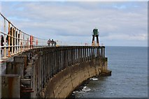 NZ8911 : West pier, Whitby by Oliver Mills