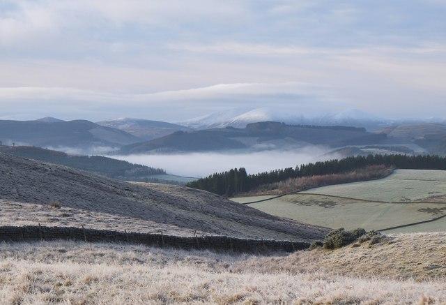 Mist over the Tweed valley