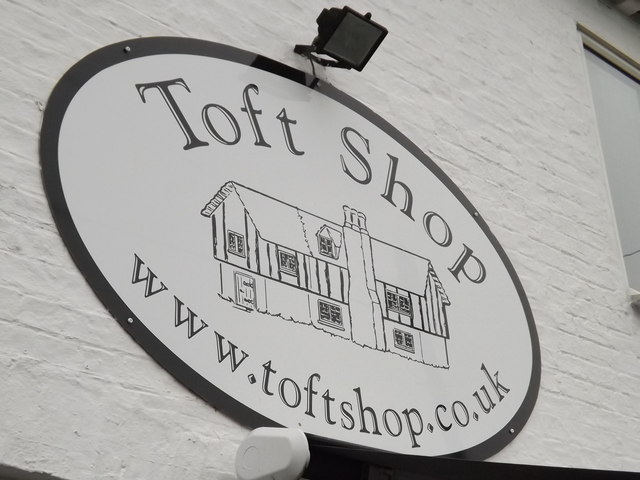 Toft Shop sign