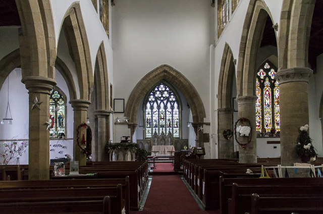 Interior, St Laurence's church, Norwell