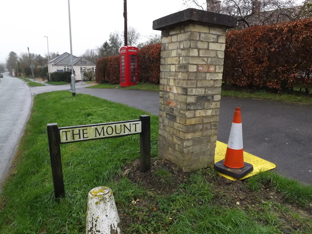The Mount sign & Toft Post Office Edward VII Postbox