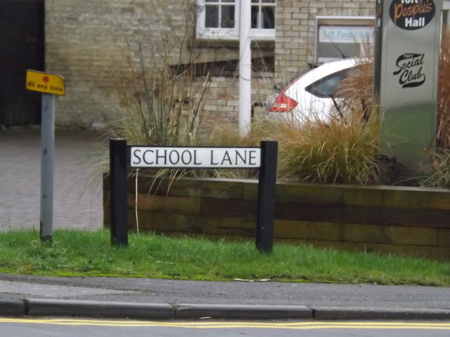 School Lane sign