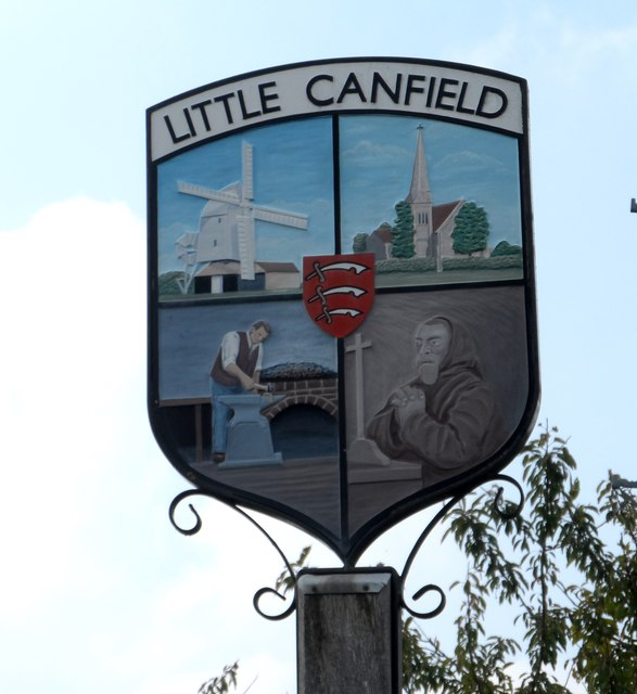 Little Canfield village sign