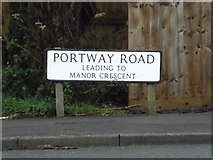 TL3758 : Portway Road sign by Adrian Cable