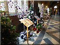 SO8454 : Christmas trees in Worcester Cathedral #1 by Philip Halling