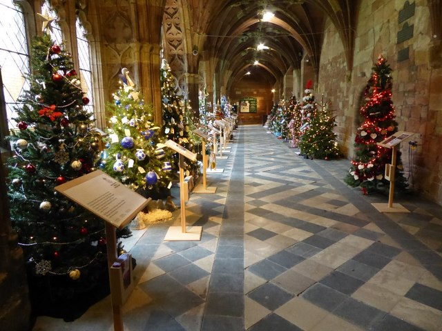 Christmas trees in Worcester Cathedral #3