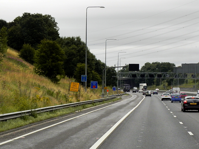 Eastbound M62 near Swincliffe