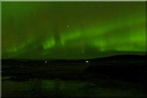 HP6312 : Aurora borealis over Haroldswick pool by Mike Pennington