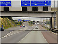 SE3126 : M62 at Lofthouse Interchange by David Dixon