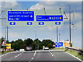 SE3225 : Sliproad from M1 to M62 at Lofthouse Interchange by David Dixon