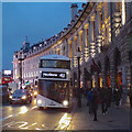 TQ2980 : White bus to Marylebone in Regent Street, London by Robin Stott