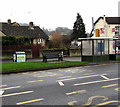 SO8005 : Gloucester Road recycling bin, bench and bus shelter, Stonehouse by Jaggery