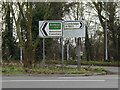 TL4159 : Roadsigns on the A1303 St.Neots Road by Adrian Cable