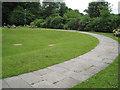 SO1091 : Semicircular garden, Newtown, Powys by Robin Stott