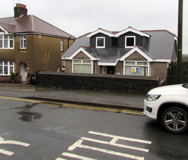 Recently altered house in Pillmawr Road, Malpas, Newport
