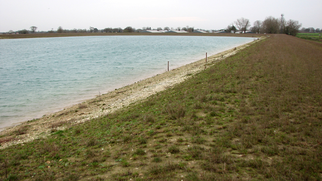 New reservoir by Upton South Broiler Farm