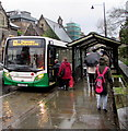 SO2800 : Boarding the Chepstow bus in Pontypool by Jaggery