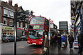 TQ3161 : Purley (Downlands Precinct bus stop):  Bus on Route 466 by Dr Neil Clifton