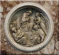 TL7786 : St Peter, Brandon - Reredos detail by John Salmon