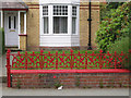SO1091 : Cast iron low fence to a front garden, Milford Road, Newtown, Powys by Robin Stott